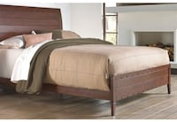 Queen or King Brown Sleigh Bed New Lake Forest
