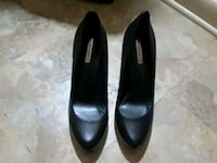 pair of black leather heeled shoes Chicago, 60645