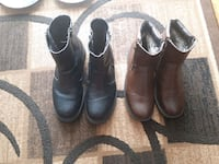 pair of black leather boots 3118 km