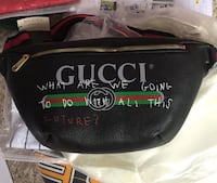 black Gucci leather fanny pack Silver Spring, 20901