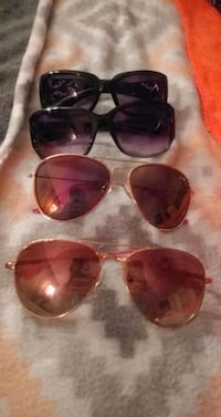 3 pair of ladies sunglasses
