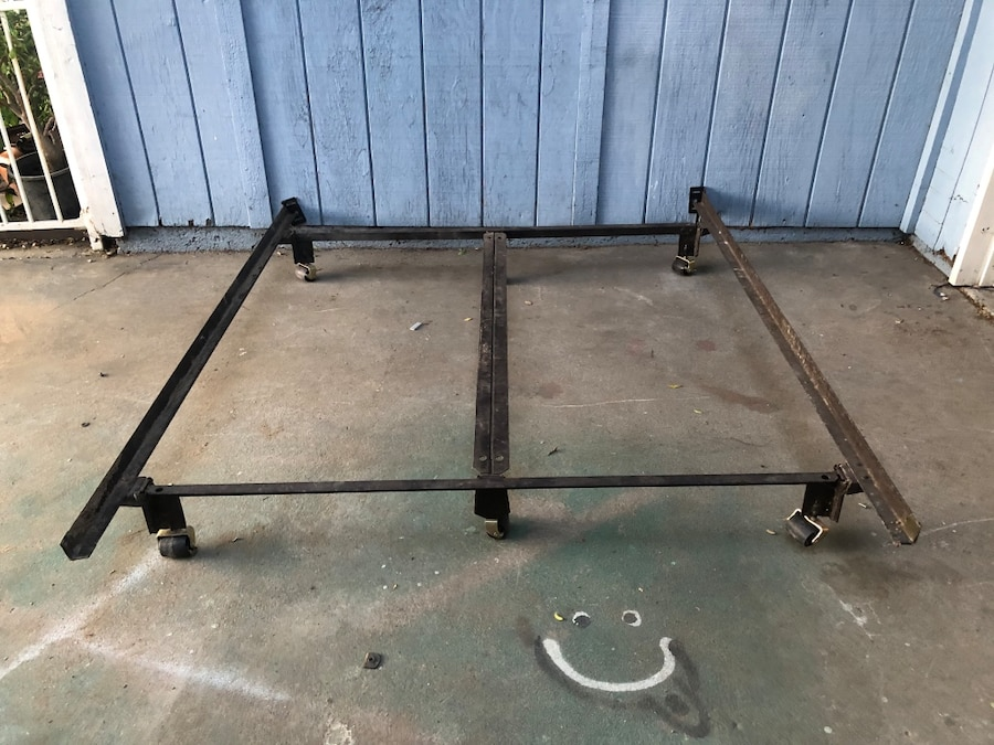 Photo Full Size One Size Metal Rolling Bed Frame