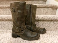 New 8 M Womens Brown Boots,  Zip Sides Woodbridge, 22193