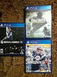 four Sony PS4 game cases 49 km