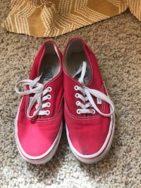 Pair of red vans authentic shoes Bozeman, 59718