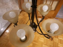 five lamps candlier