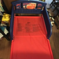 Lightning McQueen toddler bed with matching bedding Hampton, 23665