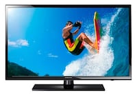 black flat screen TV with remote Vancouver, V5L 3X9