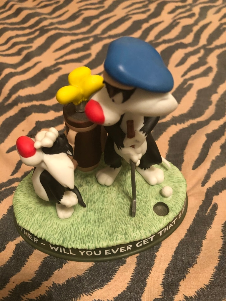 Photo GOEBEL looney Tunes old father will you ever get that birdie