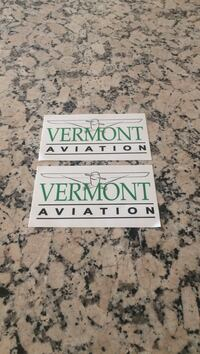 Two aviation stickers