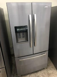 36x70 Whirlpool gold stainless steel French doors refrigerator in excellent working condition 100 days warranty  Baltimore, 21222
