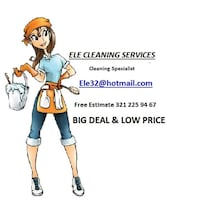 CLEANING SERV 1 BED 1 BATH $ 55 Orlando