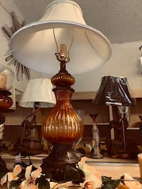 Amber color lamp and candle holder #109 Philadelphia, 19140