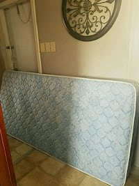 white and blue mattress with box spring El Paso