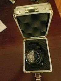 silver and black analog watch with black leather strap Tucson, 85711
