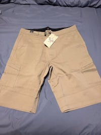 two brown and beige cargo shorts Evergreen, 80439