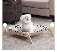 Pet Lounge Cot with Reversible Hammock
