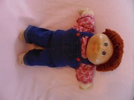 Vintage Cabbage Patch - brown hair boy with overalls