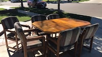brown wooden dining table set Corona, 92880