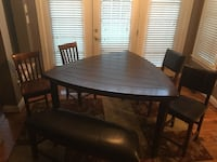 6 piece dining set seats 6