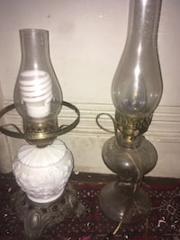 two clear glass table lamps Baltimore, 21229