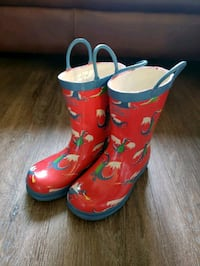 Hartly red-and-blue Kids rain boots - Size 11