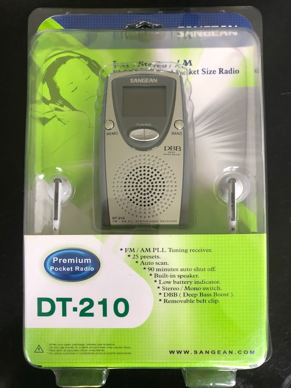 *YES IT'S STILL AVAILABLE!!* New in box!! Sangean DT-210 Premium Pocket  Radio