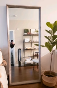 Oversized Leaning Wall Mirror