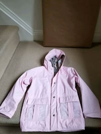 Girls Raincoat - Size 6, 6X. two front and side pockets, fully lined.