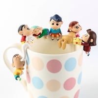 Japan putitoo crayon shinchan cup edge figures  银泉, 20906
