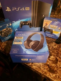 Ps4 pro bundle extra controller gold wireless headset and charging doc