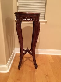 brown wooden base brown wooden side table Windermere