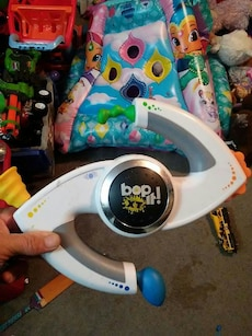 white silver and black bop it tool