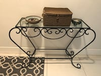 Wrought iron and glass sideboard/entryway table Seattle