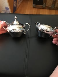 Chrome Plated creamer and sugar set Chevy Chase, 20815