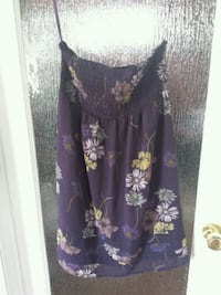 women's purple and white floral dress Calgary, T2T