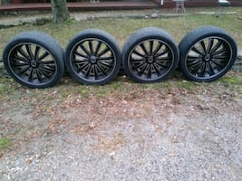 Black and. Machined 24s wheels