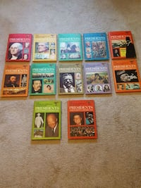 12 vintage collectible  president books