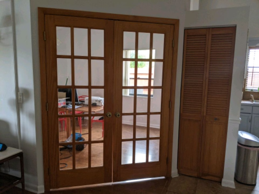 Photo Solid wood double french doors