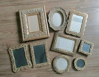 Set of 9 gold picture frames Seattle, 98104