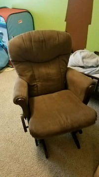 brown wooden frame brown padded armchair Albuquerque, 87111