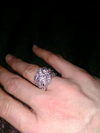 Lowered $10 Sterlin crystal accented Ring SZ 7 Tulsa, 74135