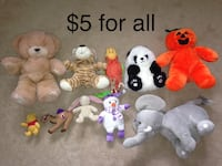 Assorted Plush Toys $5 for all Mississauga, L5W