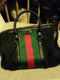 black and green leather tote bag Vancouver, V6A 1P2