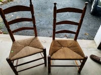 two brown wooden armless chairs Bangor, 18013