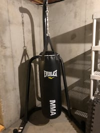 black Everlast heavy bag with stand Washington, 20011