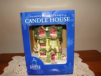 Ceramic Candle House Hand Painted Santa's Workshop Perryville, 21903