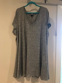 Gray v-neck sweater dress, size 4, Torrid