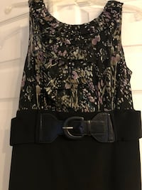 black and gray floral sleeveless dress Concord, 24538