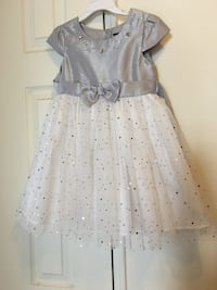 white and gray dress size 4t-5t